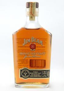 Jim Beam 11 Yr Half Bottle Rolled Oak Straight Bourbon Whiskey