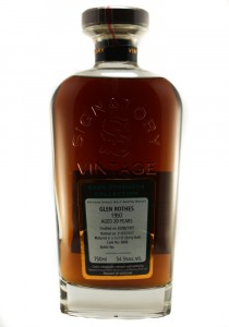 GlenRothes 20 YR Signatory Bottling Single Malt Scotch Whisky