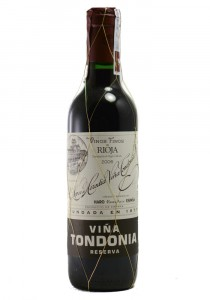 Lopez de Heredia 2006 Half Bottle Reserva Vina Tondonia