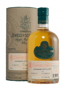 Springbank 21 YR Lombard Jewels of Scotland Bottling Single Malt Scotch